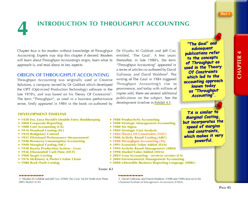 Chapter 4 of Throughput Accounting Techniques book